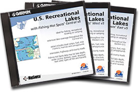 U.S. Recreational Lakes with Fishing Hot Spots East, Central & West CD-ROMs